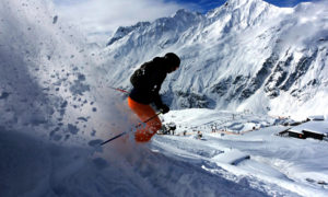 Backcountry skiing in St. Anton