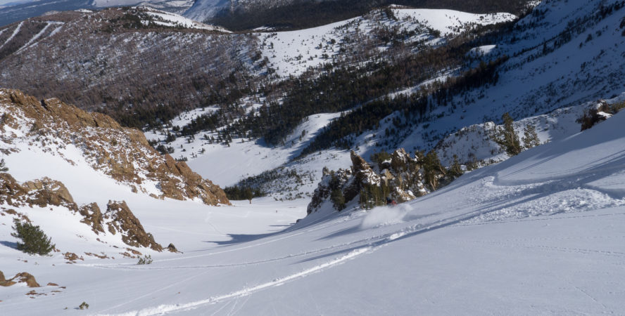 Backcountry powder turns at June mountain