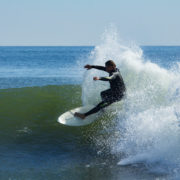 Surfing in Deal, New Jersey