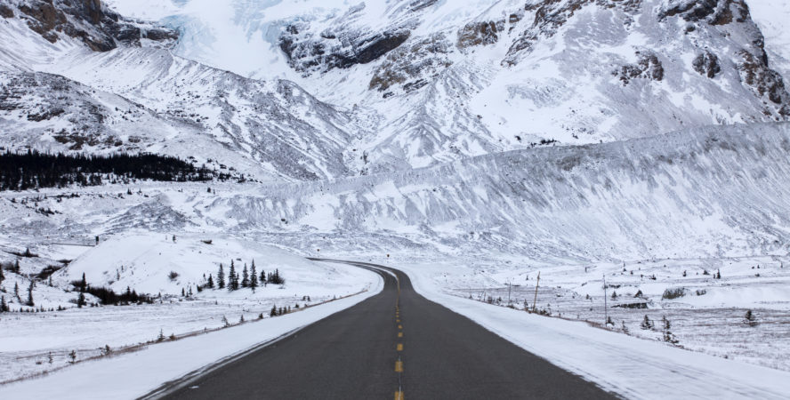 Stunning shot of Icefields parkway