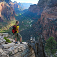 hiking in zion