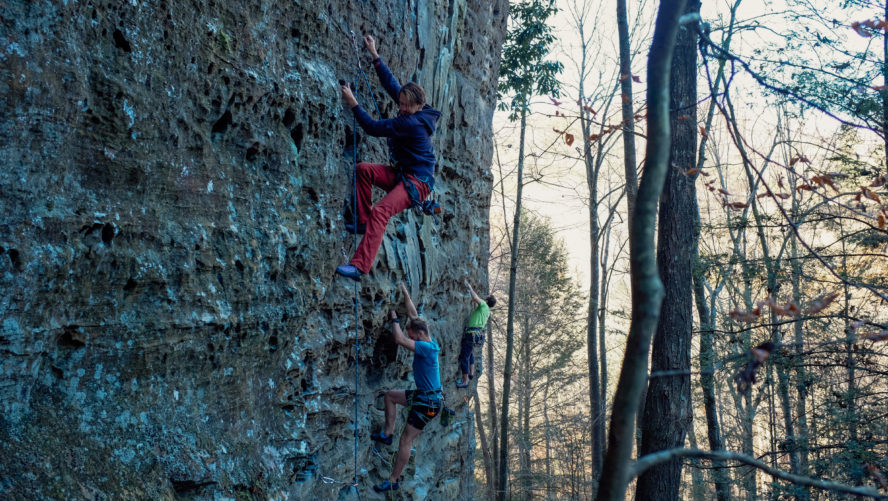 climbing at red river gorge