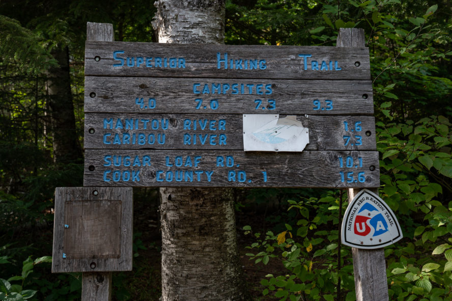 the Superior Hiking Trail sign
