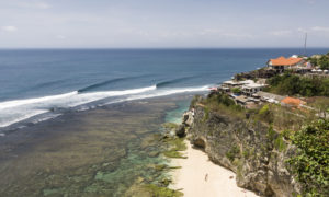 Uluwatu surf break on Bali