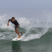 Surfing at Trestles, California